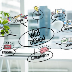 How is the web design created?