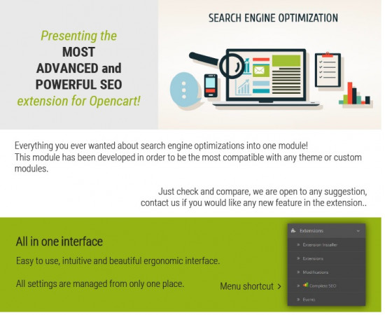 Complete SEO Package - the best seo extension for opencart (1 license)