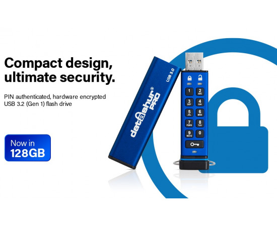 Secure encrypted secure pin 256bit USB Drive (128GB)